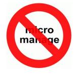 No Micromanage